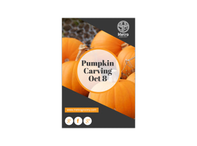 Pumpkin Carving Blog Image Template preview