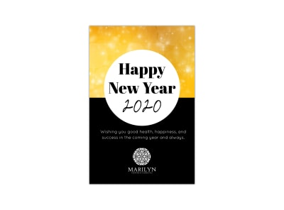 New Year Pinterest Graphic Template preview