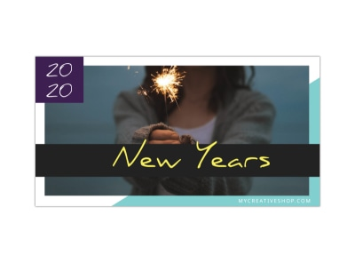 New Year's Blog Image Wide Template preview