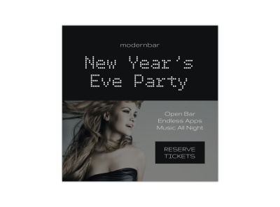 New Year's Party Blog Image Square Template preview