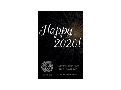 Happy New Year Blog Image Tall Template preview