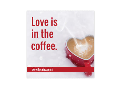 Valentine's Day Coffee Instagram Post Template preview