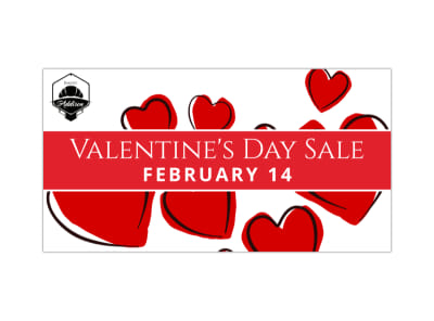 Valentine's Day Sale Blog Image Template preview