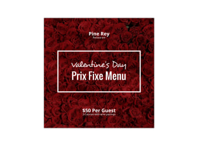 Valentine's Day Prix Fixe Blog Image Template preview