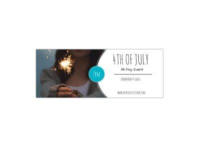 4th Of July Facebook Cover Template preview