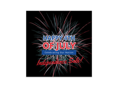 4th Of July Blog Image Square Template preview