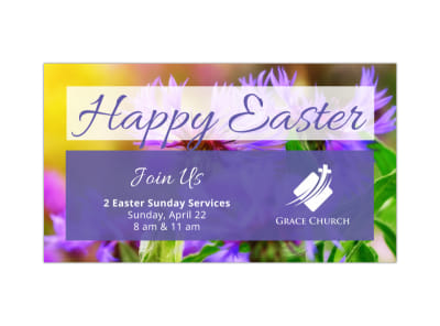Easter Church Facebook Event Cover Template preview