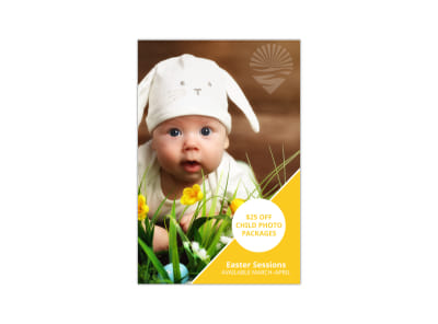 Easter Photography Pinterest Graphic Template preview