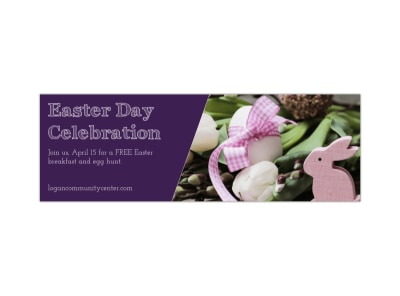 Easter Celebration Twitter Header Template preview