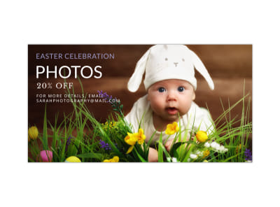 Easter Photo Blog Image Wide Template preview