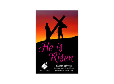 He Is Risen Easter Blog Image Template preview