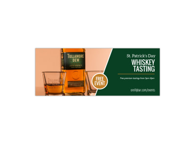Whiskey Tasting Facebook Cover Template preview