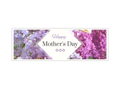 Mother's Day Twitter Header Template preview