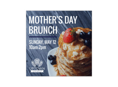 Mother's Day Brunch Blog Image Square Template preview