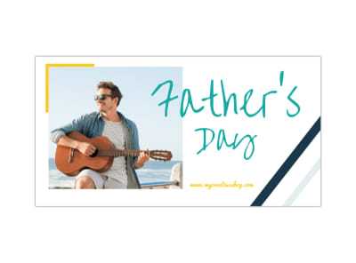 Father's Day Facebook Post Template preview