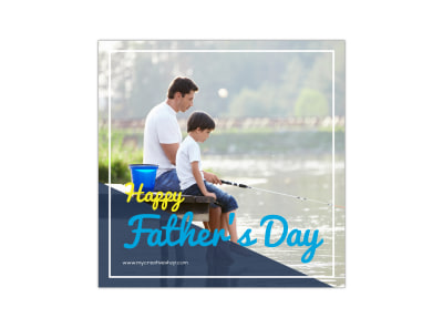 Happy Father's Day Instagram Post Template preview