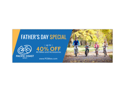 Father's Day Special Twitter Header Template