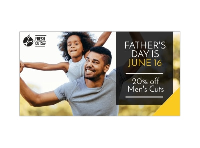 Father's Day Haircut LinkedIn Post Template preview