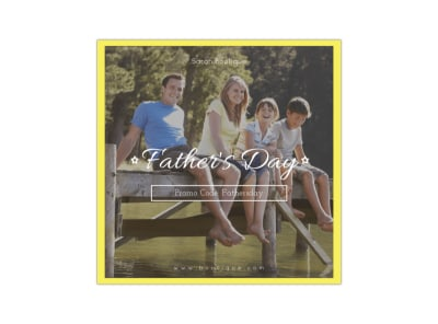 Father's Day Blog Image Square Template preview