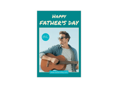 Teal Father's Day Blog Image Template preview