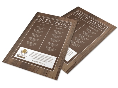 Simple Beer Menu Template