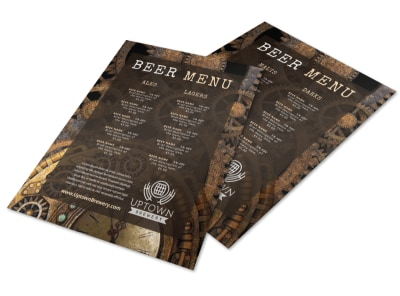 List Beer Menu Template