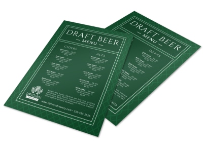 Draft Beer Menu Template