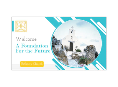Church Foundation Facebook Event Cover Template preview