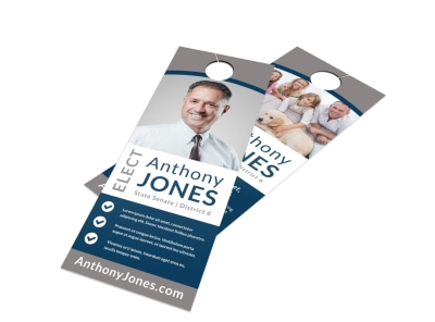 Modern Election Door Hanger Template preview