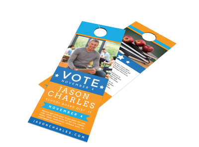 Campaign Voting Door Hanger Template preview
