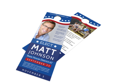 Campaign Election Door Hanger Template preview