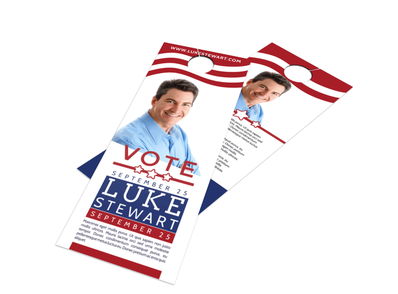 Classic Campaign Door Hanger Template Preview 1