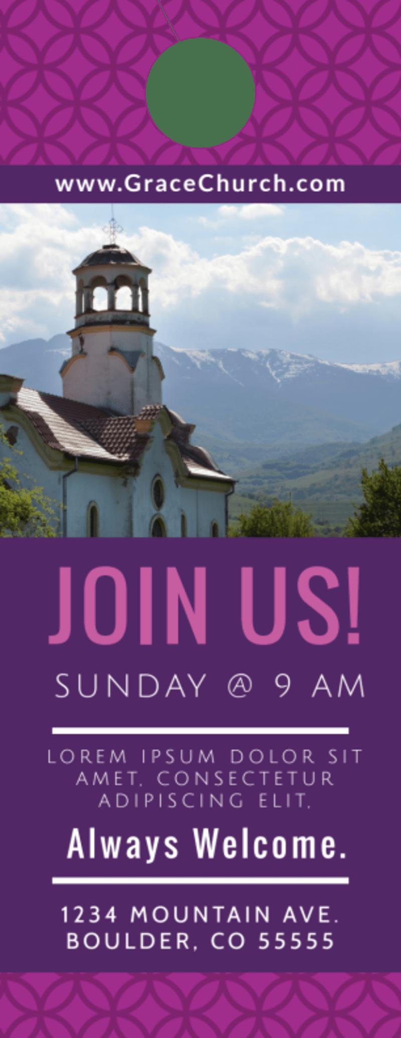 Join Us Church Door Hanger Template Preview 2