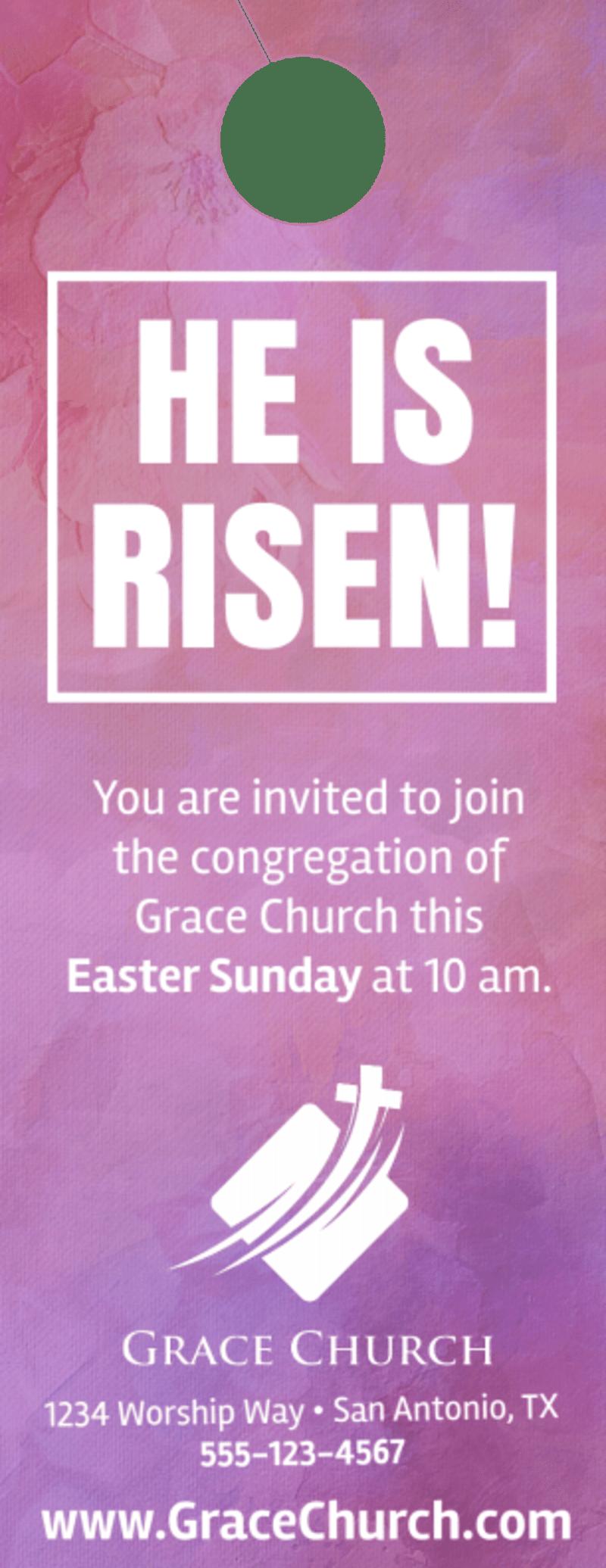 Easter Service Door Hanger Template Preview 2