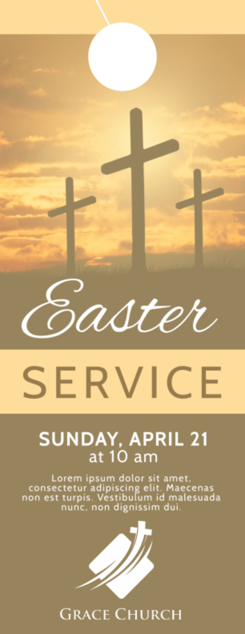 Church Easter Service Door Hanger Template Preview 2