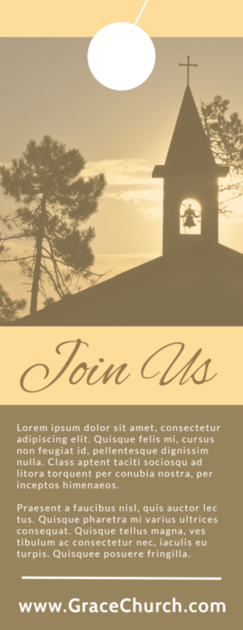 Church Easter Service Door Hanger Template Preview 3