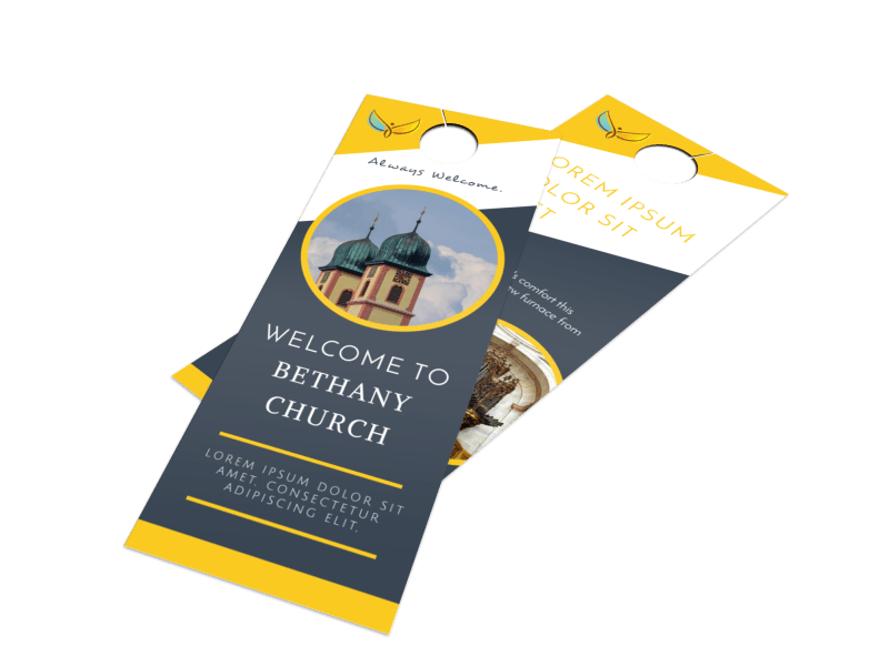 Beautiful Church Welcome Door Hanger Template Preview 1
