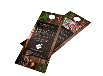 Christmas Door Hangers Template Preview