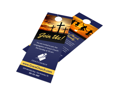 Church Join Outreach Door Hanger Template preview