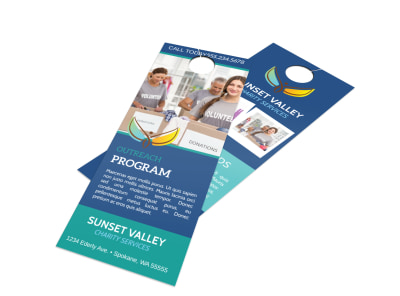 Church Outreach Program Door Hanger Template preview
