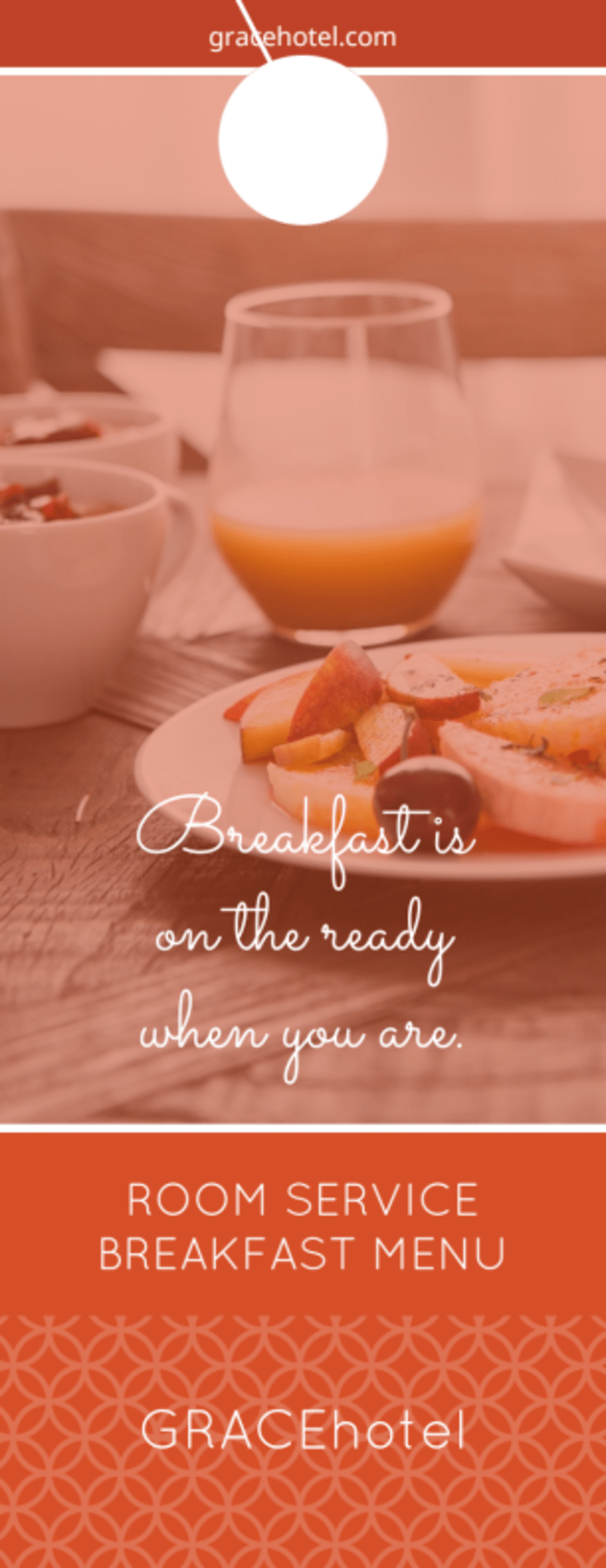 Bright Hotel Breakfast Menu Door Hanger Template Preview 2