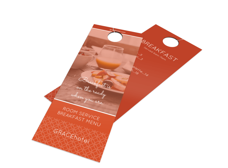 Bright Hotel Breakfast Menu Door Hanger Template Preview 1