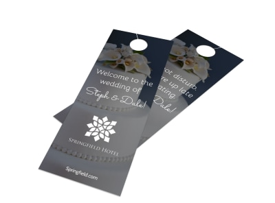 Hotel Wedding Welcome Door Hanger Template preview