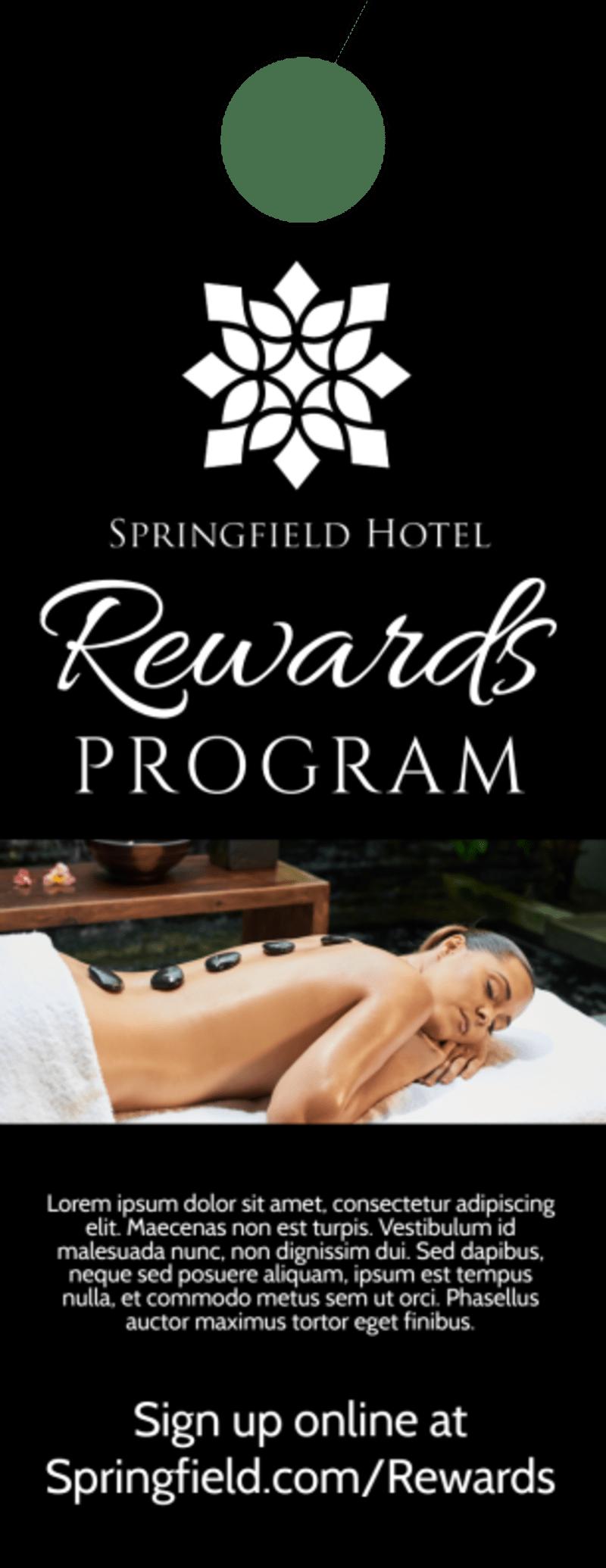 Black Rewards Program Door Hanger Template Preview 3