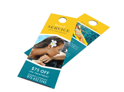 Hotel Service Door Hanger Template preview