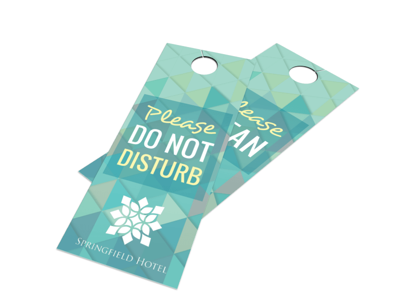 Hotel Do Not Disturb Door Hanger Template Preview 1
