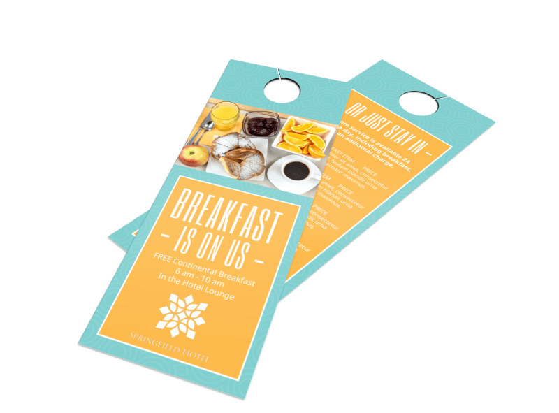 Hotel Breakfast Promo Door Hanger Template Preview 4