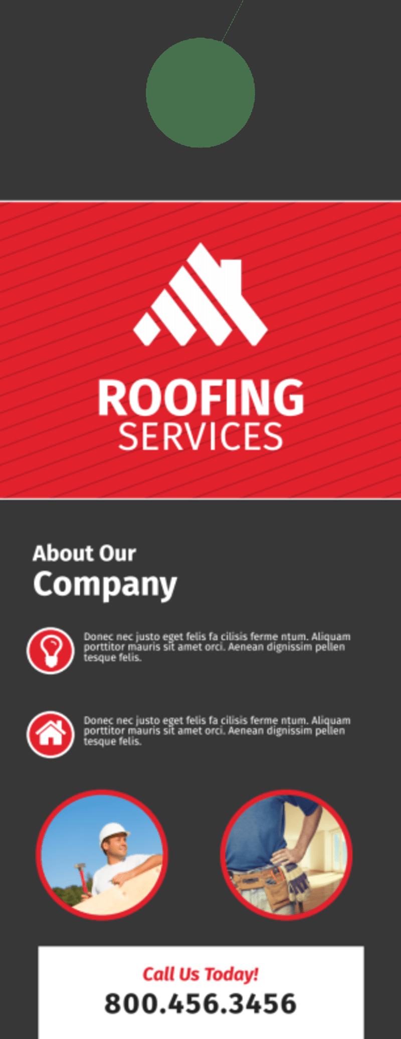 Pro Roofing Door Hanger Template Preview 3