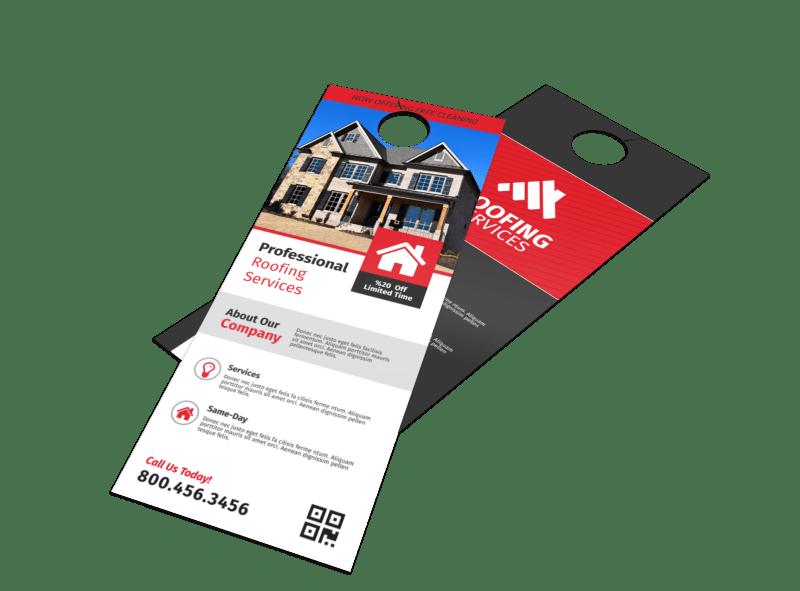 Pro Roofing Door Hanger Template Preview 1