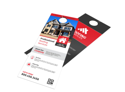 Pro Roofing Door Hanger Template preview